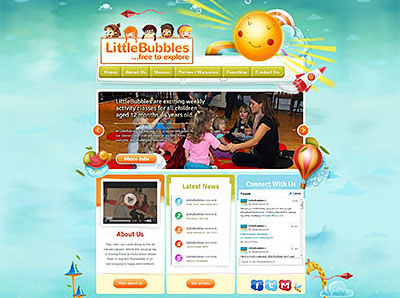 Redesign of LittleBubbles' website
